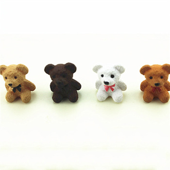 1Pcs 1/12 Dollhouse Miniature Accessories Mini Bear Simulation Animal Toy Furniture for Doll Home Decoration