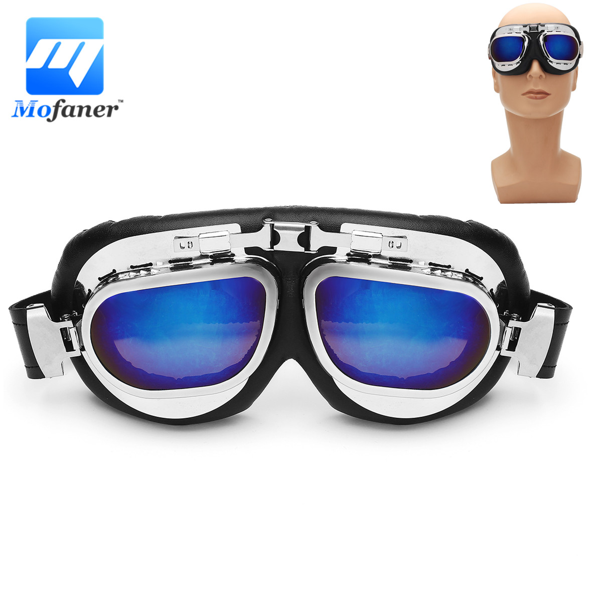 Retro Outdoor Wind Protection For Harley Motorcycle Goggles Cycling Off Road Helmet Ski Sport For Motorbike Bike Racing Goggles
