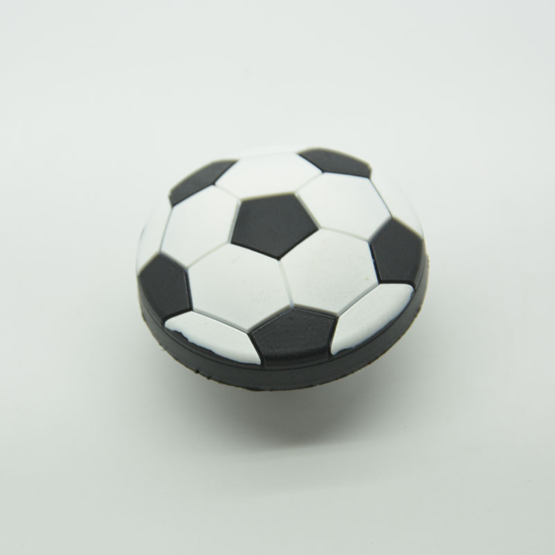 Single hole soccer football furniture handle pull knob soft handle for doors cabinets drawer kid soft knob soccer-specific stadium