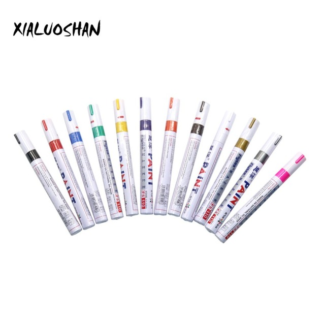 1 Pc kolorowy znak wodoodporny Marker Marker z farbą metalową permanentny tłusty pióro Graffiti Marker permanentny