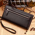 Leather Men Wallets With Zipper Male Leather Wallets Clutch Bag for Men Hand Bag Masculina Carteira High Quality Large Capacity
