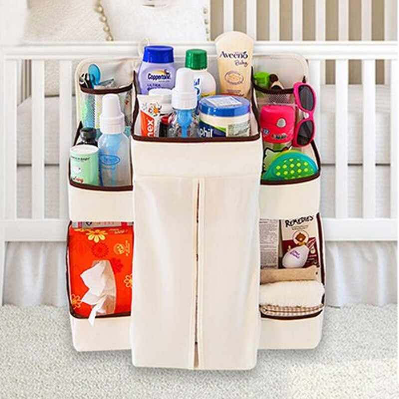 New Rooms Nursery Hanging Storage Bag Baby Cot Bed Crib