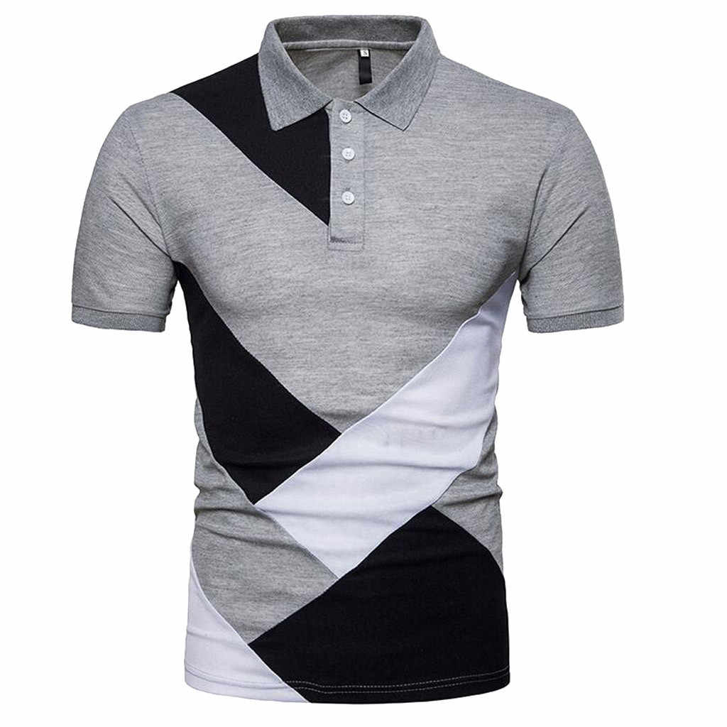 KANCOOLD Men Polo Shirts 2019 Casual New Brand Polyester Summer Men Tops Polo Shirts Short Sleeve Men Tops Dropshipping 6264