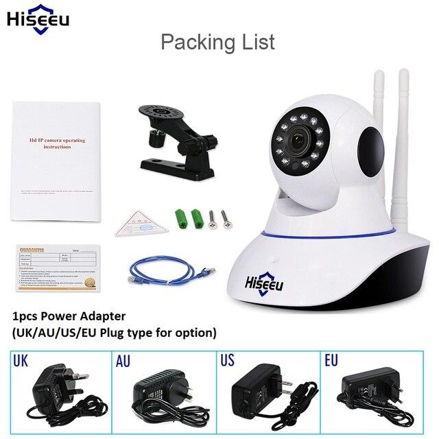 Hiseeu Home Security 720P 1080P Wifi IP Camera Audio Record SD Card Memory P2P HD CCTV Surveillance Wireless Camera Baby Monitor 5