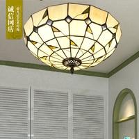 Mediterranean ceiling lamp round bedroom lamp study room children's room led simple ceiling lamp