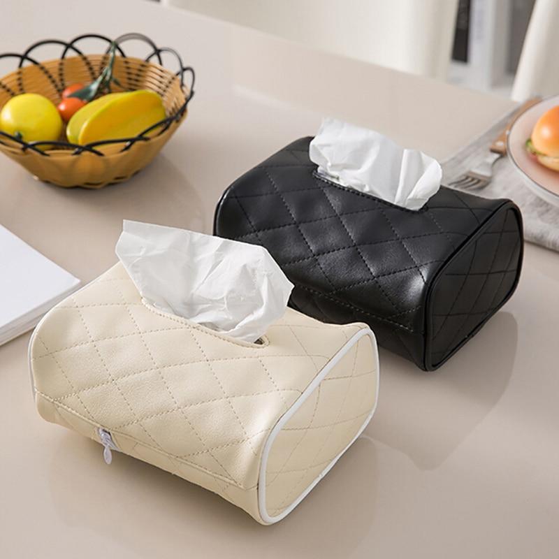 1 Pc Hoge Kwaliteit Tissue Box Cover Pu Lederen Servethouder Kamer Auto Sofa Hotel Decoratieve Papier Container Case Goederen Van Hoge Kwaliteit