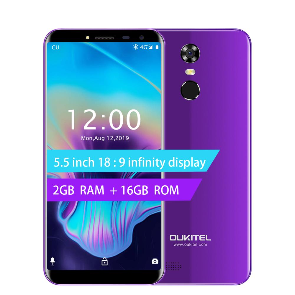 Oukitel C8 5.5 18:9 Infinity Display Android 7.0 MTK6580A Quad Core Smartphone 2G RAM 16G ROM 3000mAh Fingerprint Mobile Phone image