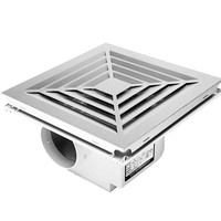 HONYAR P0318L Kitchen Air Extractor Fan Integrated Toilet Condole Aluminous Gusset Plate of High power Exhaust Fan Mute