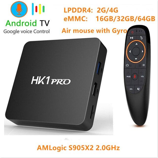 Android 8.1 Smart TV BOX S905X2 LPDDR4 4 GB 64 GB 2.4 GHz & 5 GHz Wifi Bluetooth 4 K 3D Cửa Hàng Google Play Set Top Box Tiếng Nói Trợ Lý
