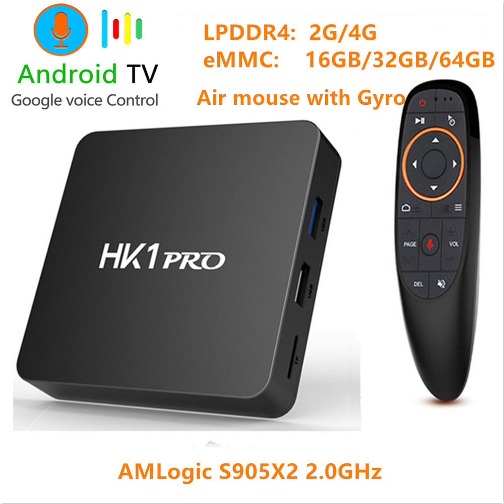 Android 8.1 Smart TV BOX S905X2 LPDDR4 4GB 64GB 2.4GHz&5GHz Wifi Bluetooth 4K 3D Google Play Store Set Top box Voice Assistant-in Set-top Boxes from Consumer Electronics