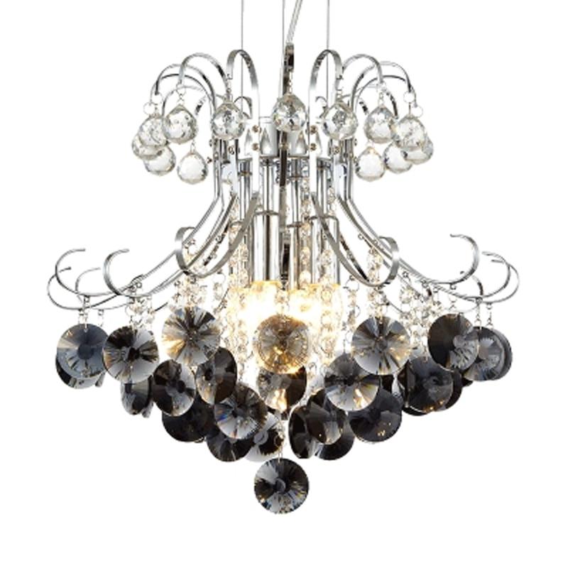 Moderní módní domácí křišťálově E14 žárovky přívěsek světla svítilny kutilství osobně romantické přívěsek chrom železné přívěsek