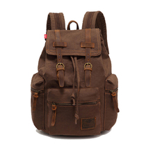 цены на New Fashion Men's Backpack Vintage Canvas Mochila Feminina Men's Outdoor Travel Bags Large Capacity Laptop Knapsack Student Bag  в интернет-магазинах