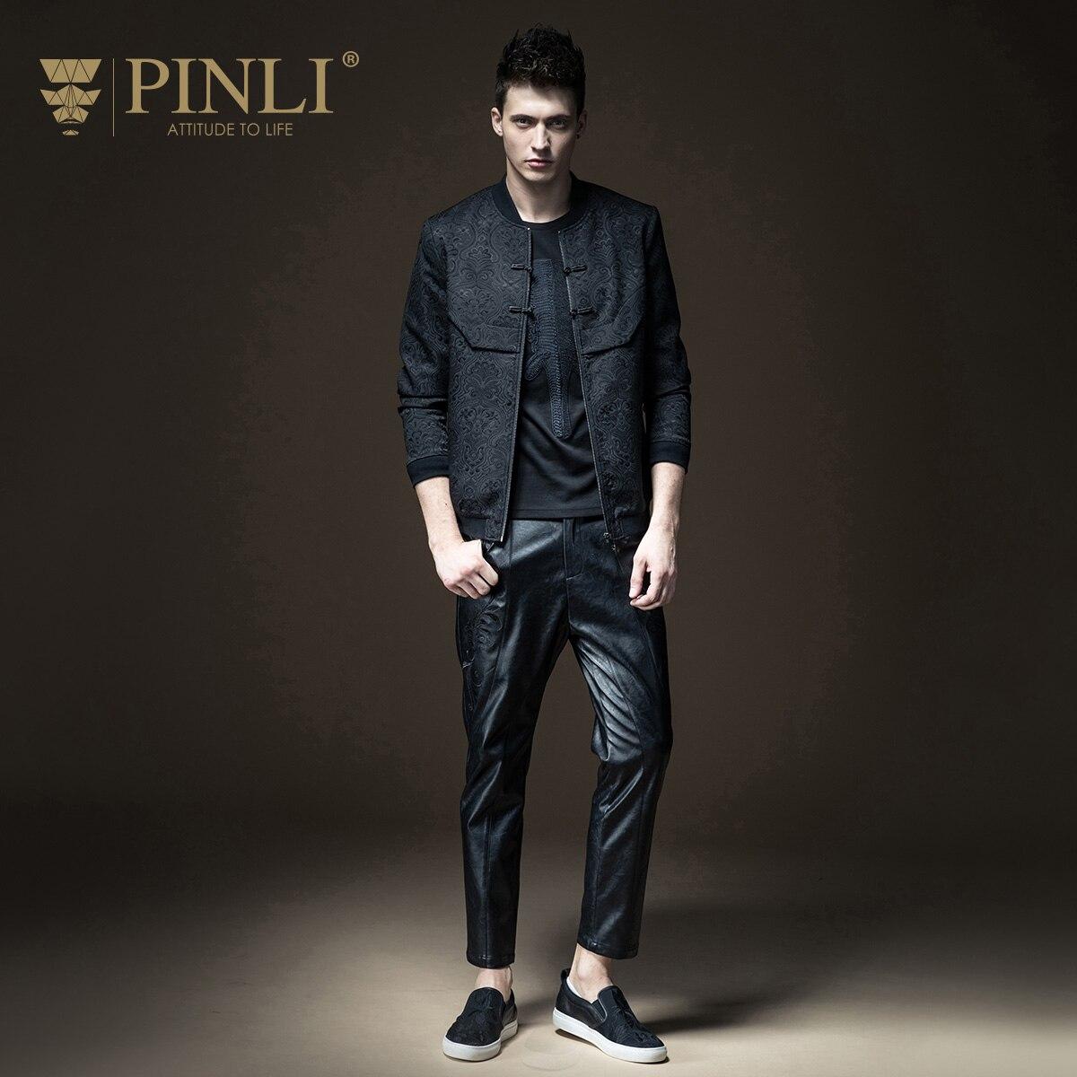2017 Time-limited Standard Zipper Solid Pinli, 2017, Fall, New Menswear, Slim Jacquard, Baseball Jacket, Jacket,, B173204411