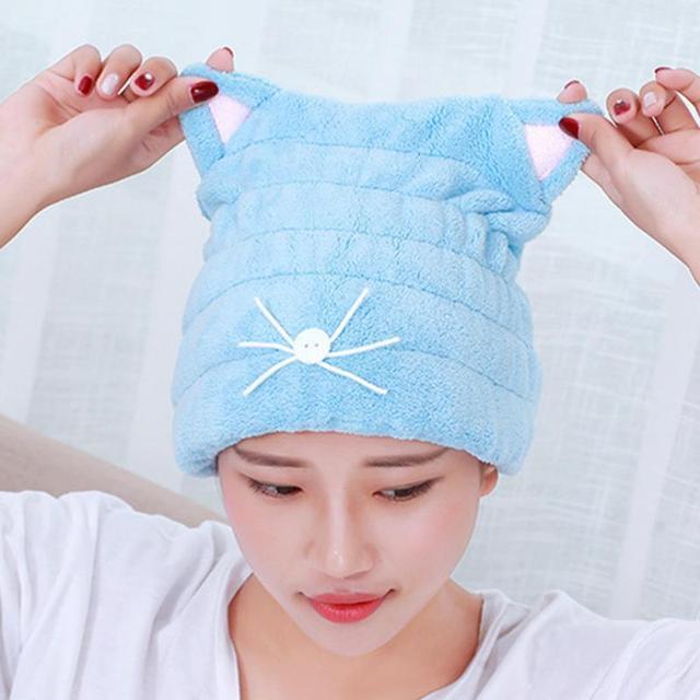 Frauen Mädchen Badezimmer Tragen Hüte Magic Hair Trocknen Handtuch ...