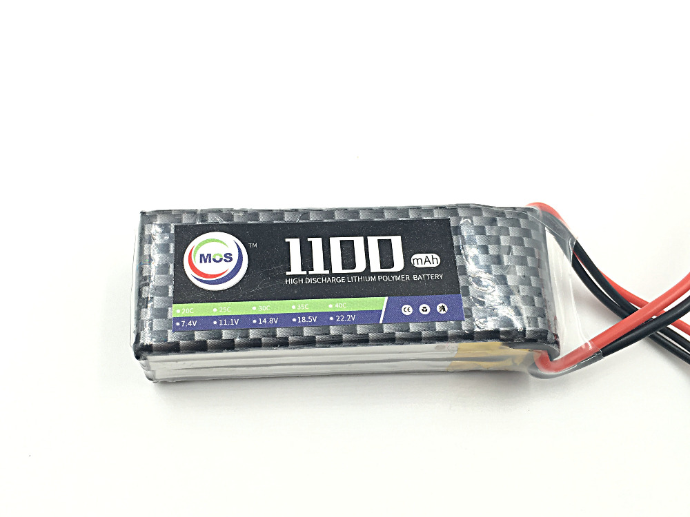 2pcs/Package MOS 3S lipo battery 11.1v 1100mAh 40C For rc airplane free shipping mos 6s lipo battery 22 2v 3000mah 40c for rc airplane free shipping