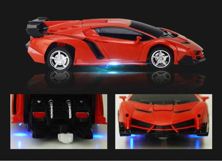 RC Car Transformation Robots Sports Vehicle Model Robots Toys Cool Deformation Car Kids Boys Toys Gift Fast delivery dropship