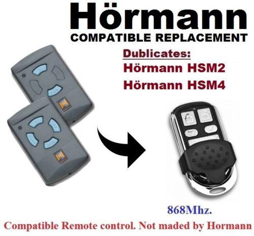 Remote Control For Hormann Hsm2, Hsm4, Hs2, Hs4 868 MHz Compatible