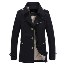 Männer Jacke Mantel Langen Abschnitt Mode Trenchcoat Jaqueta Masculina Veste Homme Marke Casual Fit Mantel Jacke Oberbekleidung 5XL