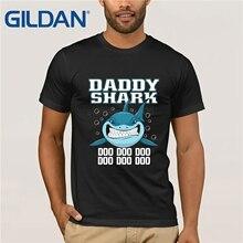 Daddy Shark Doo T Shirt Size S - 3XL  Print Casual T-Shirt Men Brand Top Tee Cartoon Hip Hop Couple