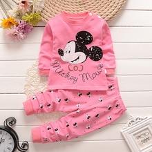 Весенне-осенний комплект детской одежды для маленьких мальчиков и девочек, костюм со штанами с круглым вырезом и длинными рукавами