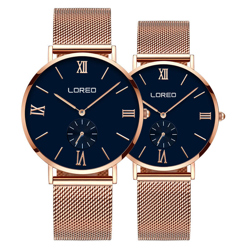 LOREO 5108 Germany bauhaus watches lover luxury brand ultra-thin simple large dial canvas classic lovers' watch bauhaus