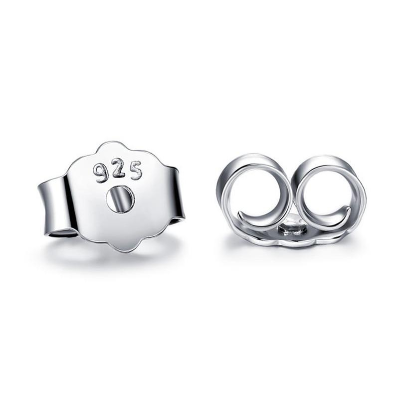 100% 925 Sterling Earring Plugs Real 925 Silver Stud Earing Findings Jewelry Earplug Fine Quality Earring Back DropShipping