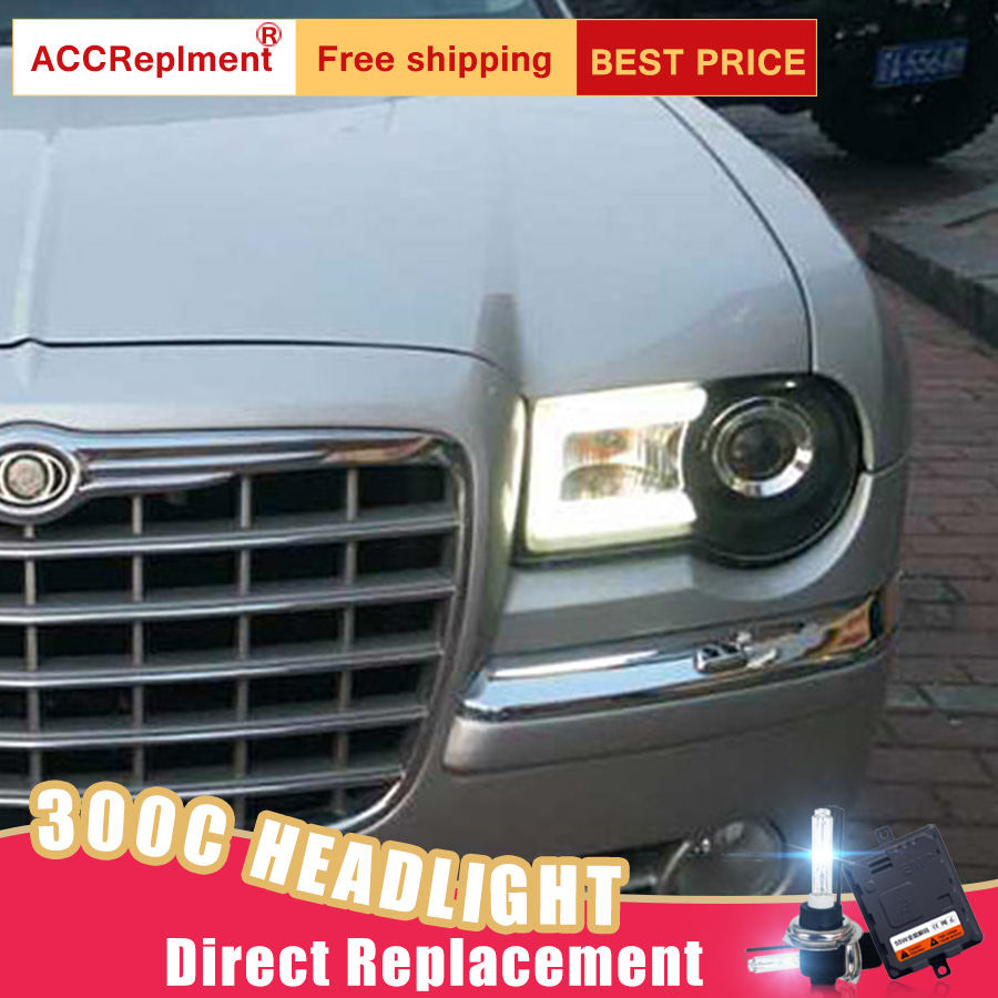 New Led Front Fog Light Kit Assembly W White Drl Halo Rings For Chrysler 300 Fuse Box Price 2pcs Headlights 300c 2005 2012 Car Lights Angel Eyes Xenon Hid
