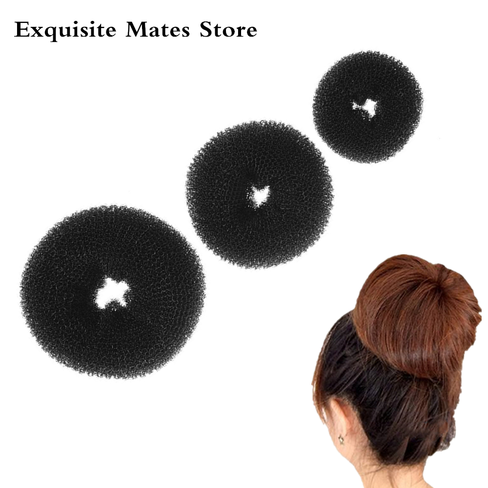 3 Size Fashion Women Magic Shaper Donut Hair Ring Bun Hair Styling Tools Accessories Hair Braiders Tools For Lady Hair Bun Maker