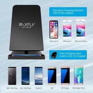Image 4 - RAXFLY 10W QI cargador inalámbrico para iphone 11 XR 8 Plus carga rápida para Huawei P30 Pro cargador inalámbrico de teléfono para Samung S10 S9