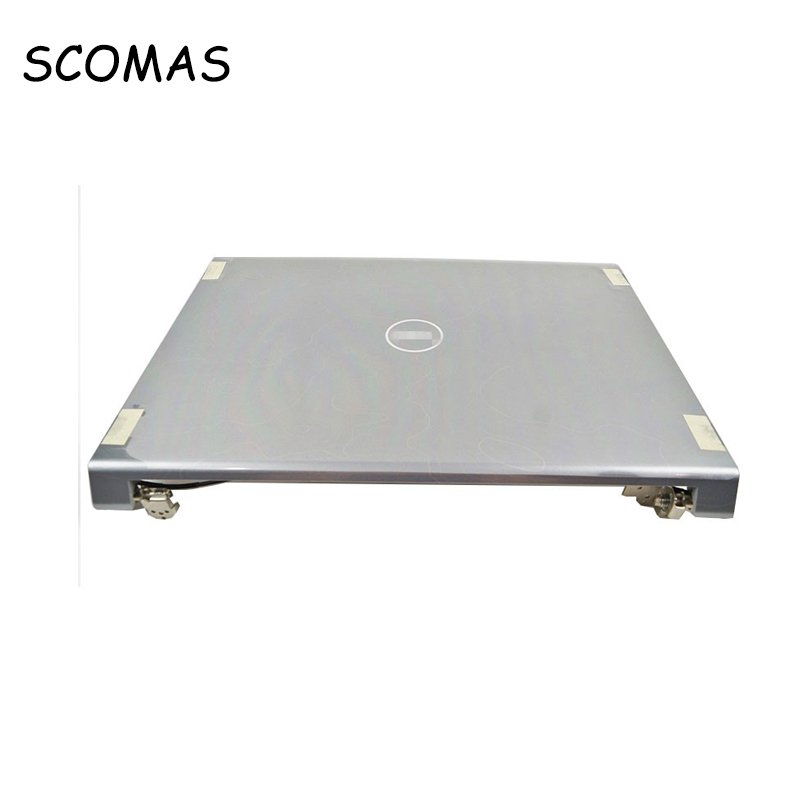 SCOMAS Promotio Laptop LCD Back Cover Back Case for Dell Studio 1735 1736 1737 Silver A Cover A Case with Red Sides