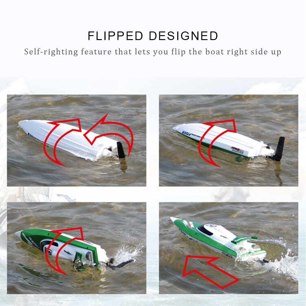 FT009 2.4G 30km/h RC Racing Boat With Water Cooling Self-righting System aluminum water cool flange fits 26 29cc qj zenoah rcmk cy gas engine for rc boat
