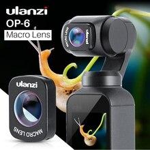 DJI Osmo Pocket, Professional HD 자기 구조 렌즈 용 Ulanzi OP 6 매크로 렌즈 Osmo Pocket Accessories