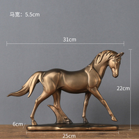 Neoclassical contracted model room horse study modern sitting room lives in colophony animal to lay out originality resin home