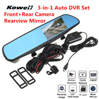 3 in 1 1080P HD 120 Degree Wide Vision Car DVR & Rear View Mirror Kit Interior Mirrors Inside Flat Rearview Mirror Car Styling