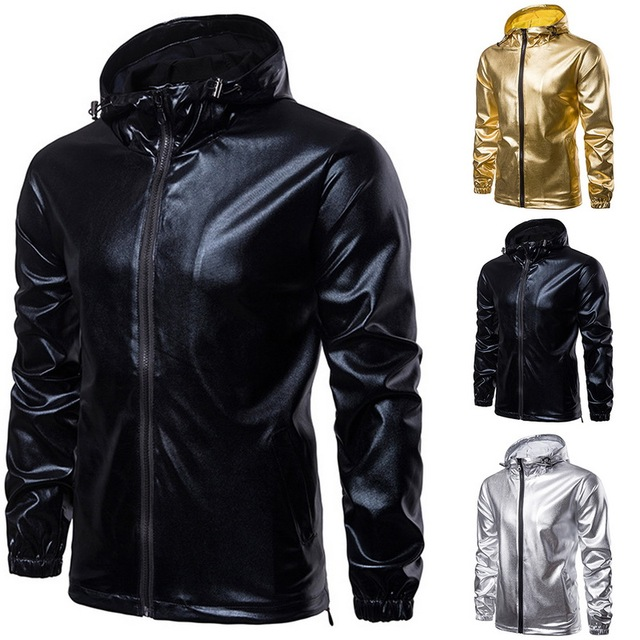 HEFLASHOR Popular Brand New Men Autumn Leather Jacket Clothes Male Personality Fashion Leather Jacket Hooded Slim Clothes
