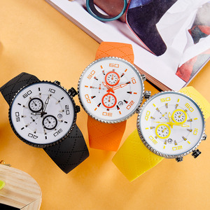 Image 4 - SINOBI Fashion Mens Sports Watches Stopwatch Waterproof Silicone Band Running Chronograph Watch 3 Colors relojes para hombre