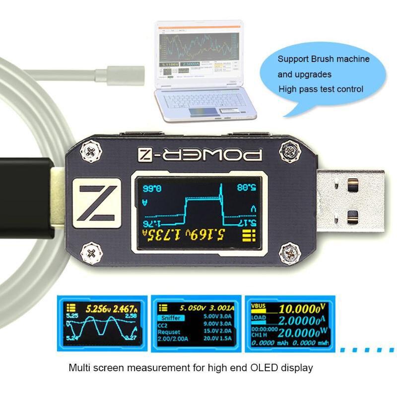 Atorch POWER-Z usb tester tipo-c pd qc 3.0 2.0 carregador de tensão corrente ondulação dupla tipo-c km001 volt meter power bank detector