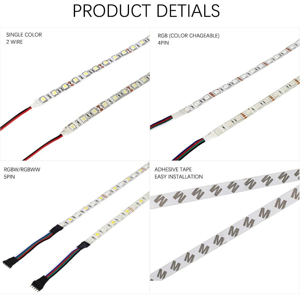 HTB1wPIseDnI8KJjSszgq6A8ApXay DC12V 5M LED Strip 5050 RGB,RGBW,RGBWW 60LEDs/m Flexible Light 5050 LED Strip RGB White,Warm white,Red,Blue,Green
