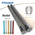 Rocket cuerda de salto profesional atletismo saltar con rodamiento de bolas mango de metal (añadir una PCs reemplazo cable 2.0mm diámetro)