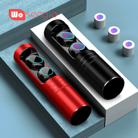 True Wireless Stereo Headphones Bluetooth 5.0 in ear Earbuds Handsfree IPX7 Waterproof with Metal charger box For iPhone Sony LG