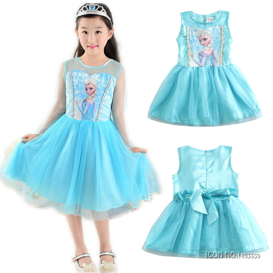 Christmas New Year Children Party Dresses For Girls Elsa Dress Princess Anna Cosplay Costume Baby Kids Clothing Vestido Infantis children anna elsa princess birthday dresses cosplay party fancy costume with cape christmas dress child blue red clothes kids