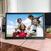 EU/US Plug 17 Inch HD Digital Photo Frame Electronic Album Front Touch Buttons Multi language LED Screen Pictures Music Video