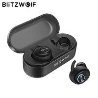 В наличии Blitzwolf BW-FYE2 TWS настоящие беспроводные наушники bluetooth V5.0 наушники спортивный динамик Hi-Fi стерео звуковые звонки для iPhone