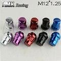 AMK racing-M12 * 1.25 Sport Car Wheel Lock Lug Nut Con Adaptador