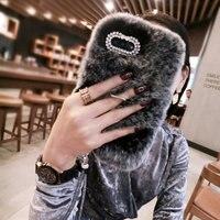 Luxury Handmade Rabbit Full Furry Animal Hair Phone Case for Samsung Glaaxy C10 C9 Pro C8 C5 Winter Soft Warm On7 5 J720 J5 J3