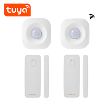 Tuya WIFI Smart Life Magnetic Door Window Sensor Smoke Fire Detector Wireless PIR Motion Alarm Remote Control Alexa Google Home