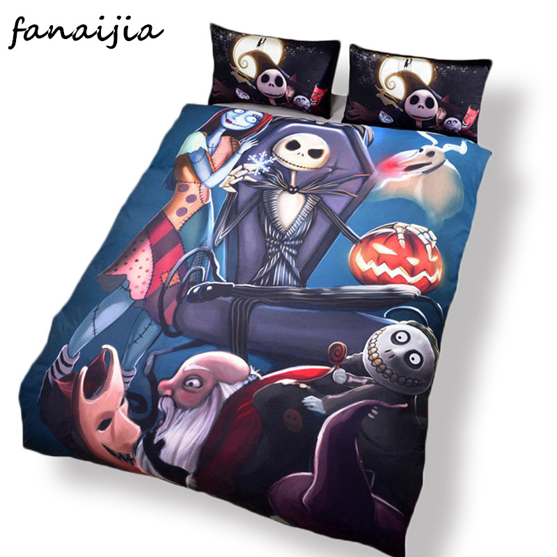 Bedding Set Nightmare Before Christmas Duvet Cover Home