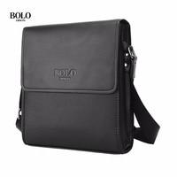 BOLO Brand Men Bag Casual Business Leather Messenger Bag Vintage Waterproof Single Shoulder Crossbody Bag For