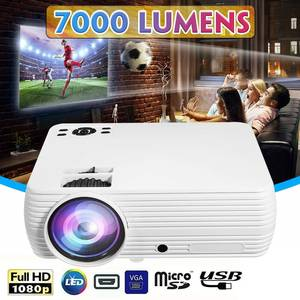 Home Cinema Projector Theater 7000 Lumens Movie 1080P LED X5 LCD HD AV Support HOT