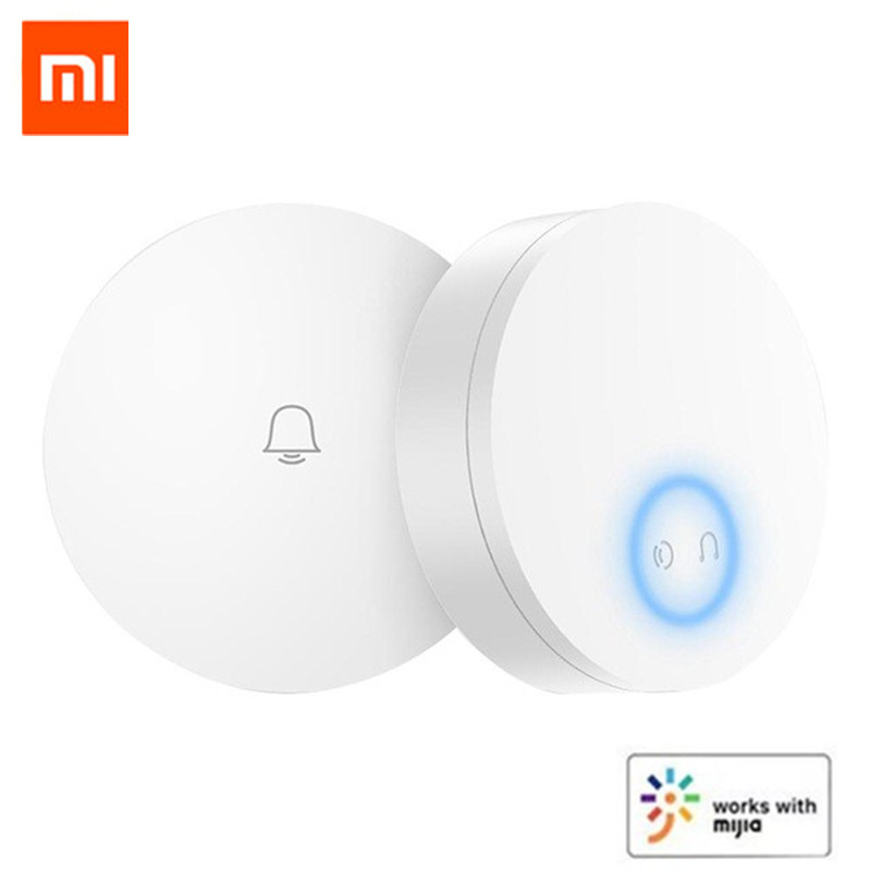 Xiaomi Mijia Linptech WIFI Self-power-generating Wireless Doorbell Work With Mijia APP Smart Control Memory Function AC 110-240V